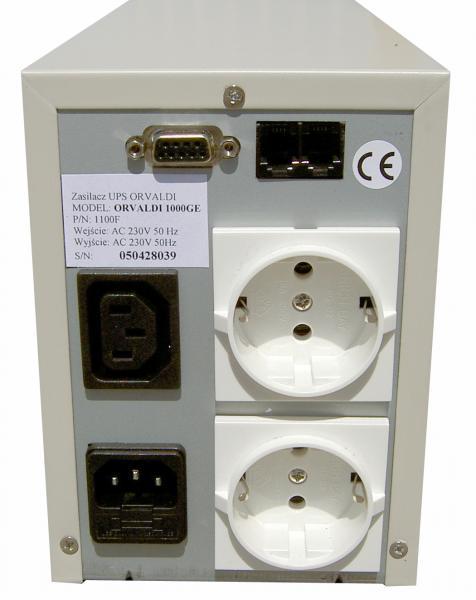 Orvaldi UPS, back with standard socket