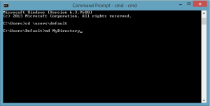 MD command in Windows 8.1