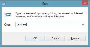 Run cmd in Windows 8.1