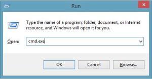 Run cmd in Windows 8.1