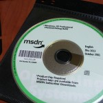 MSDN CD disk from October 2001