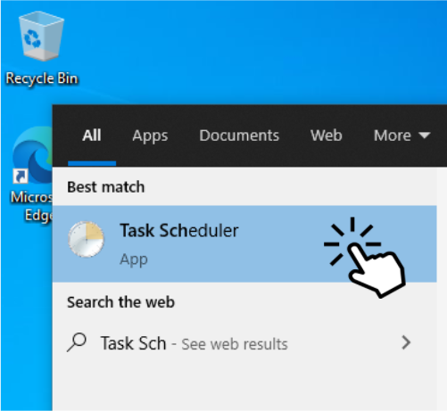 Click on Task Scheduler
